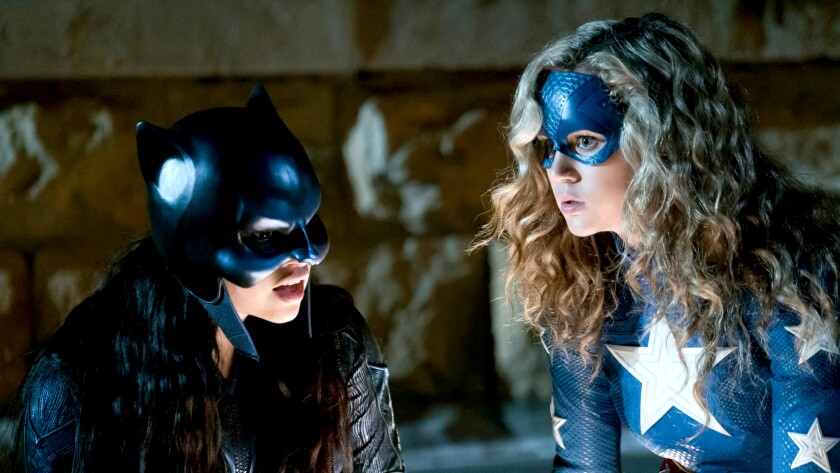 "Yolanda Montez, left, and Brec Bassinger in a new episode of ""DC's Stargirl"" on The CW."