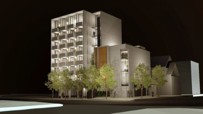 Neighbors objected to the no-parking plan for 320 W. Cedar project and the bright lights expected after dark.