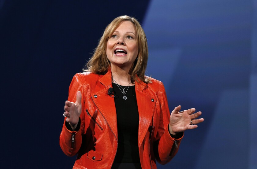 Mary Barra, General Motors' chief executive, also took on the role of chairwoman Monday. Above, Barra in June.