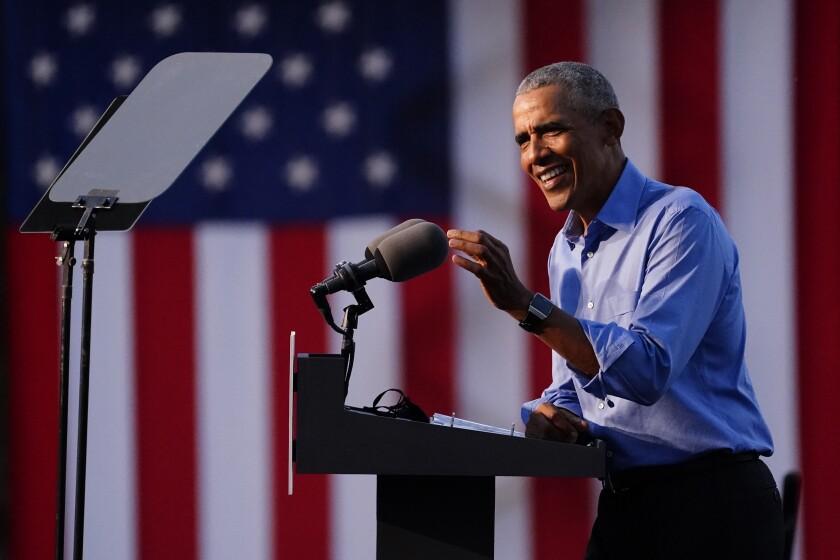 President Obama speaks outside Citizens Bank Park in Philadelphia on Wednesday.