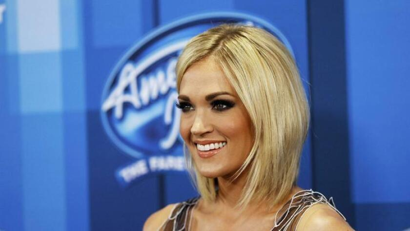 Singer Carrie Underwood arrives at the American Idol Grand Finale in Hollywood, California April 7, 2016. (MARIO ANZUONI)