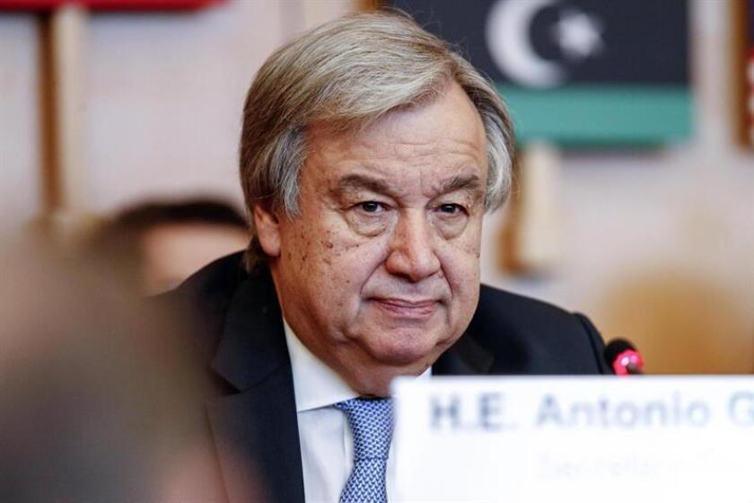 El secretario general de la ONU, Antonio Guterres. EFE/Archivo