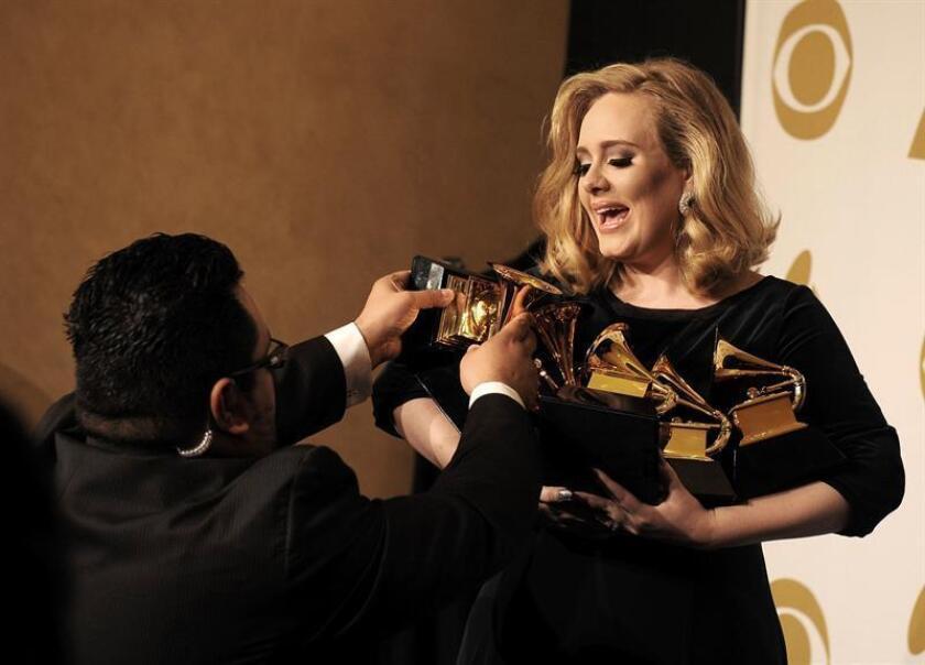 La cantante británica Adele, sería una de las nominadas. EFE/ARCHIVO