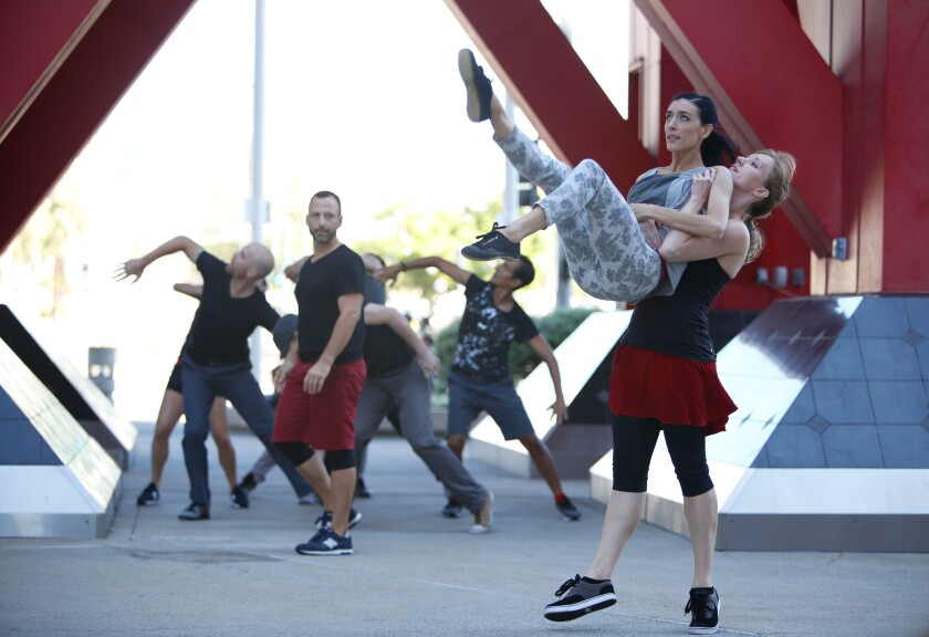 A photo of San Diego Dance Theatre's annual Trolley Dances