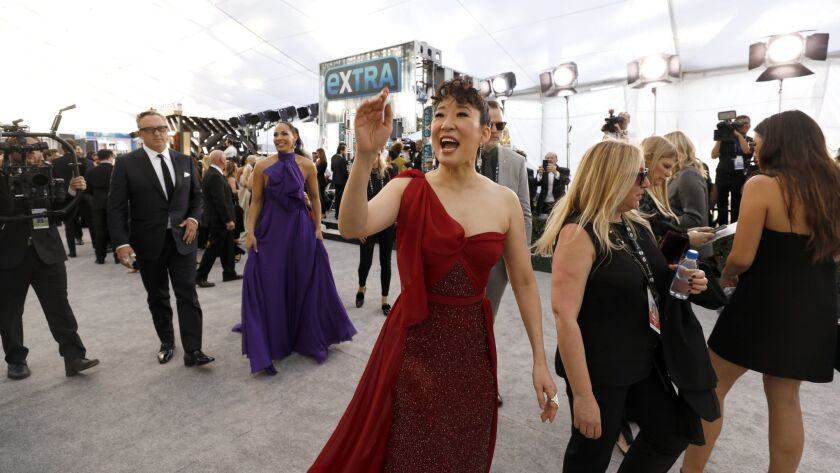 LOS ANGELES, CA - January 27, 2019- Sandra Oh arriving at the 25th Screen Actors Guild Awards at the