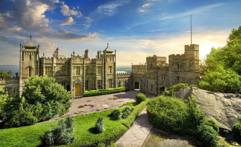 ***PHOTO SLATED TO RUN ON TRAVEL - 6/23/19*** Vorontsov Palace and grounds in Crimea. ** OUTS - EL