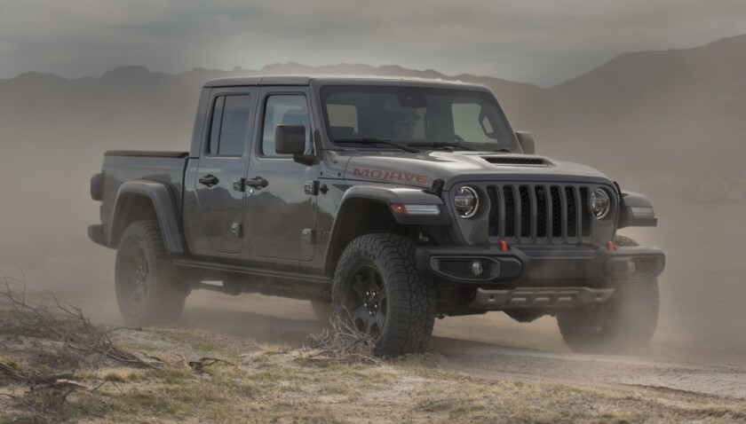 The Gladiator Mojave is upgraded for off-roading durability with suspension upgrades and other enhancements. It is expected in showrooms this spring.
