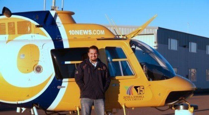 Rancho Santa Fe resident Ruben Campos was recently hired as the Chopper 8 pilot. Courtesy photo