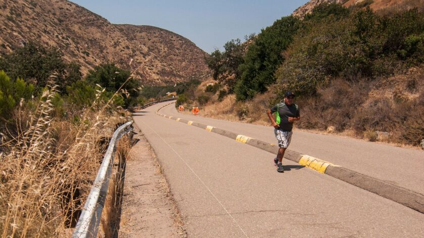 Old Junipero Serra Trail's southbound lane is now for bicyclists, walkers and joggers only.