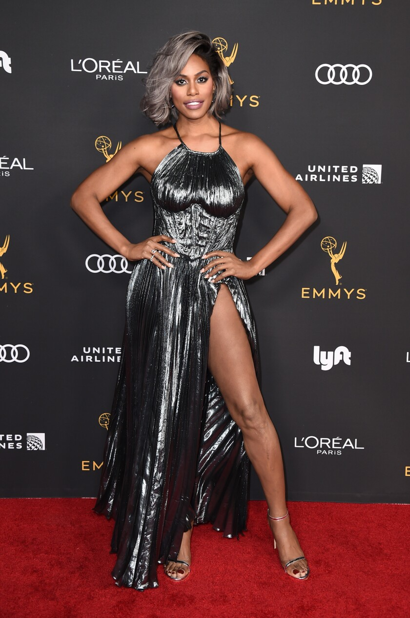 """Laverne Cox, an Emmy nominee for """"Orange Is The New Black,"""" at the 2019 Performers Nominee Reception."""