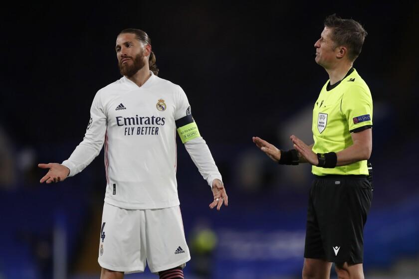 El defensor Sergio Ramos, del Real Madrid