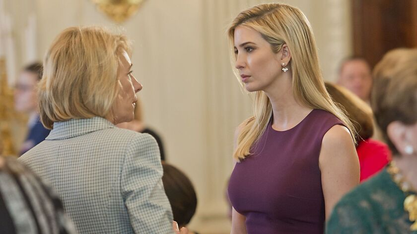 Ivanka Trump attends the White House luncheon, which was hosted by her stepmother, First Lady Melania Trump.