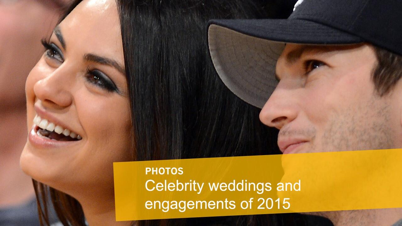 Celebrity weddings & engagements   Mila Kunis and Ashton Kutcher