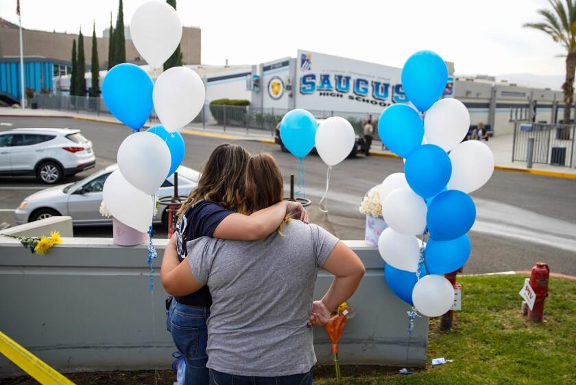 Saugus High School shooting memorial
