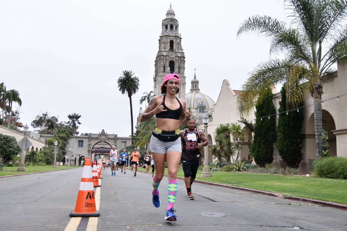 Runners got a full tour of one of San Diego's finest attractions during the Balboa Park 8 Miler on Saturday, Aug. 5, 2017. (Jesse Arroyo)
