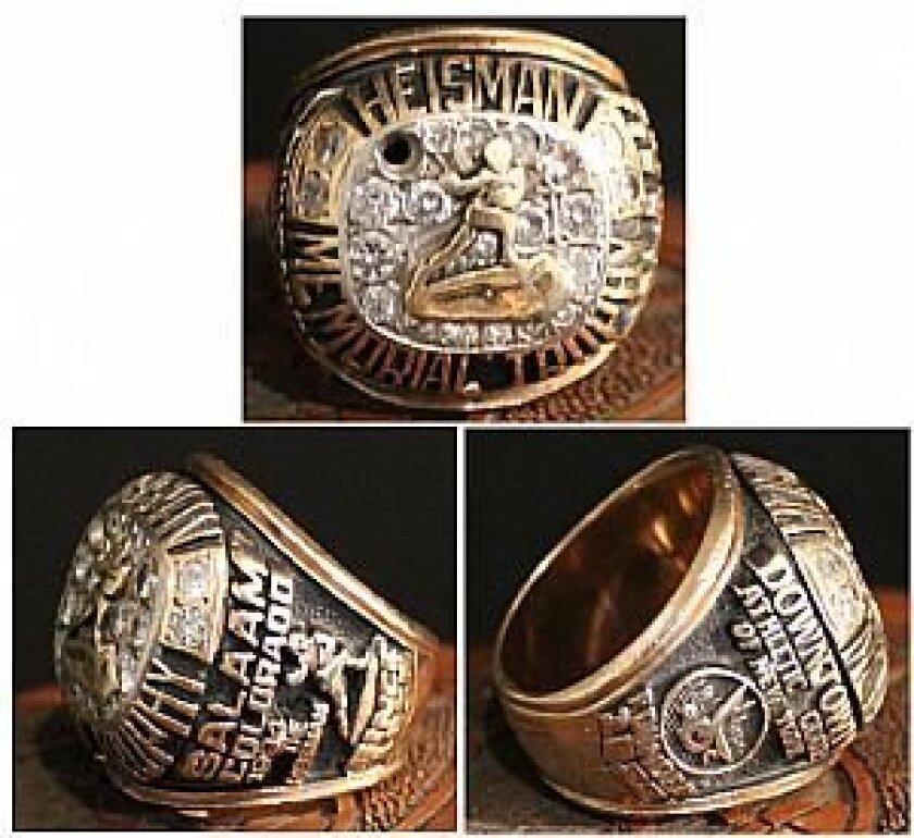 Rashaan Salaam's Heisman ring.