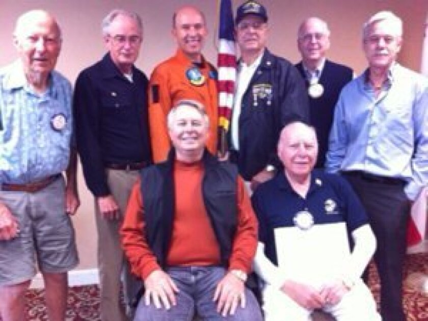 Front row, (L to R): Randy Jones, Lou Overman; Back row (L to R): Tom Slipper, Jon Fish, Paul Butler, George Sousa, Charles Foster, Malcolm Koll.