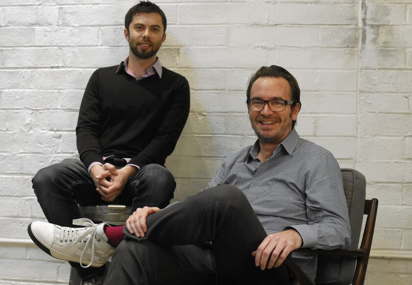 Pluto.TV, led by Ilya Pozin, left, and Tom Ryan, offers more than 100 channels of curated online video.