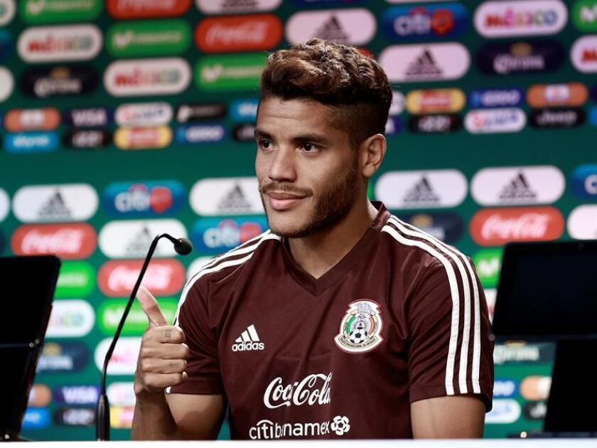 Fotografía del futbolista mexicano Jonathan Dos Santos. EFE/Archivo