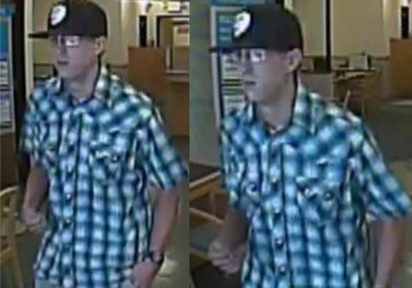 The FBI had released these surveillance images of a man who robbed Citibank on South Melrose Drive in Vista on May 31.