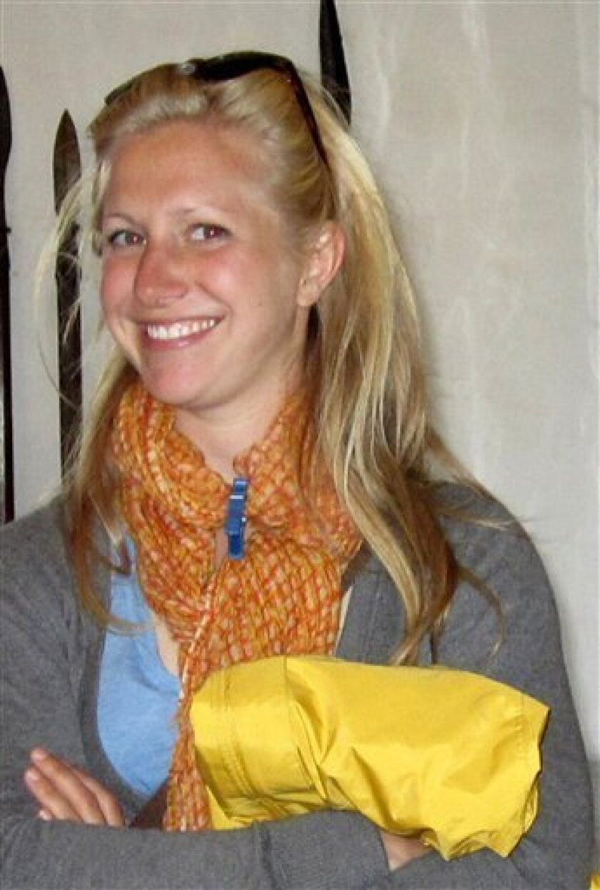Allison Owen, from Columbus, Ohio is shown in this undated photo released by Carabinieri (Italian Paramilitary Police) Wednesday, Oct. 5, 2011. An autopsy Thursday, Oct.6, 2011 determined that a young American woman whose body was found in a roadside canal in Italy was fatally struck by a vehicle, a lawyer for her family said. The victim, 23-year-old Allison Owens of Columbus, Ohio, worked as a tour guide. She was believed to have been jogging when struck Sunday afternoon along a busy road that runs through the Tuscan town of San Giovanni Valdarno. (AP Photo/Carabinieri, h.o)