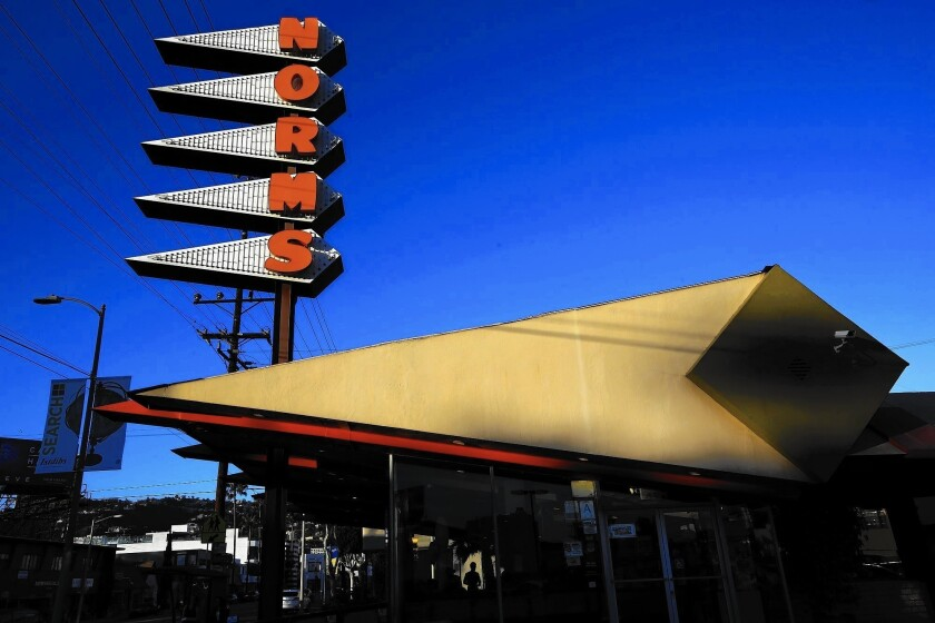 Preservationists fear that Norms on La Cienega Boulevard might be torn down.