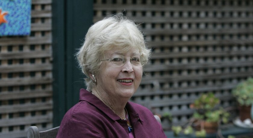 Solana Beach's first mayor, Margaret Schlesinger, in 2006.