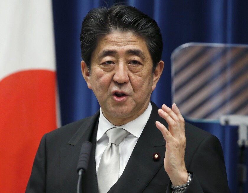 Japan's Prime Minister Shinzo Abe at his official residence in Tokyo last year.