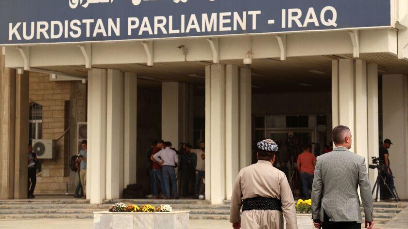 The Kurdish parliament building in Irbil, Iraq.