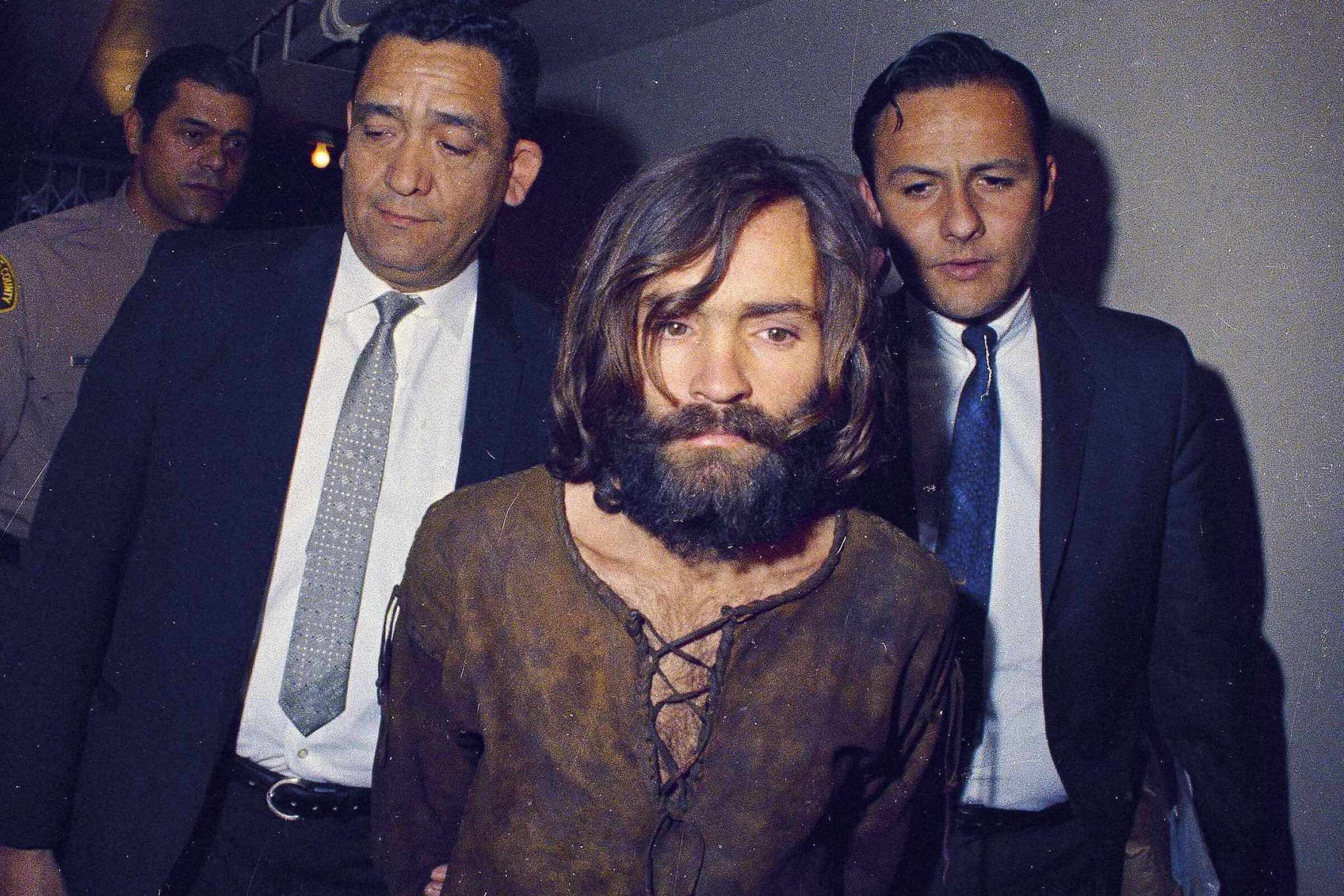 Charles Manson escorted to arraignment