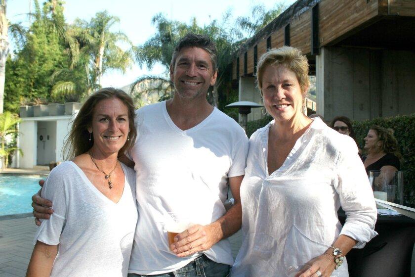 Wendi Carlock, Matt Sanders and Angie Preisendorfer attend the Hotel La Jolla event.