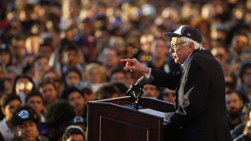 SAN DIEGO, March 22, 2019   U.S. Senator Bernie Sanders, a Democratic candidate for president, speak