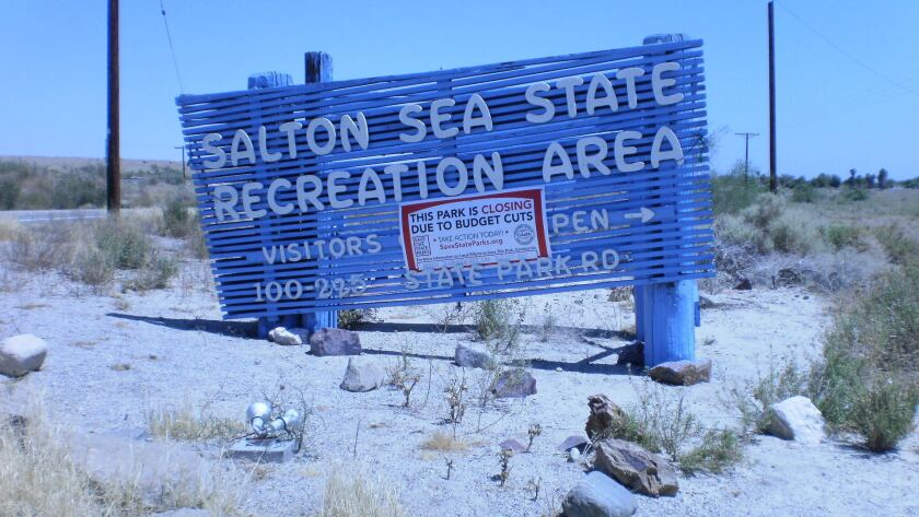 The Salton Sea State Recreation Area was closed during a budget crisis. It has reopened but the area is still troubled.