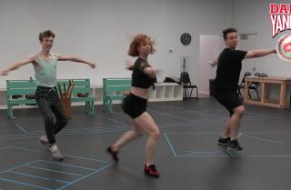 Inside the rehearsal room of SDMT's Damn Yankees!