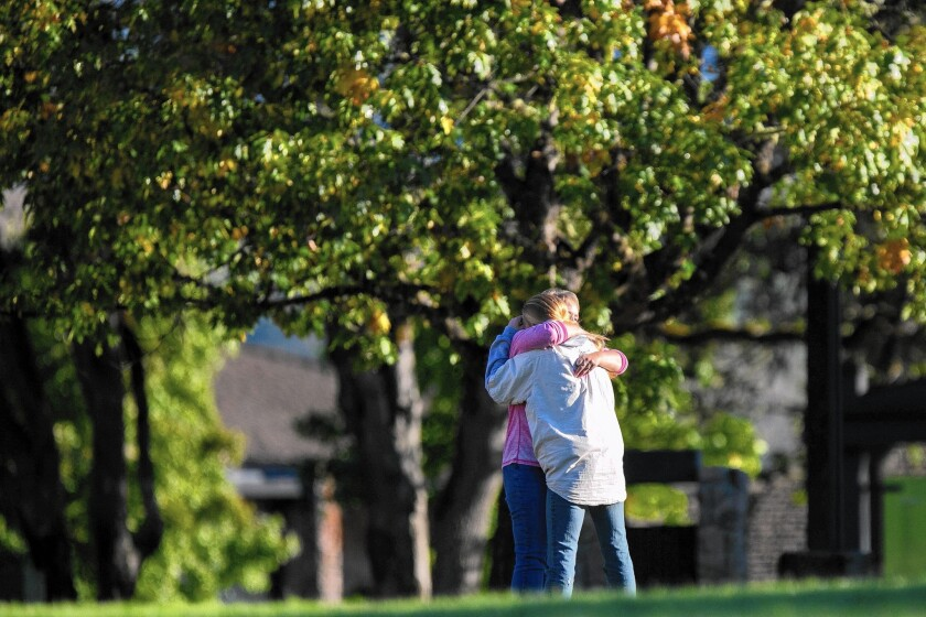Nine people were killed and nine were injured in the Oct. 1 rampage at Umpqua Community College in Roseburg, Ore. Above, the campus reopened Oct. 5.