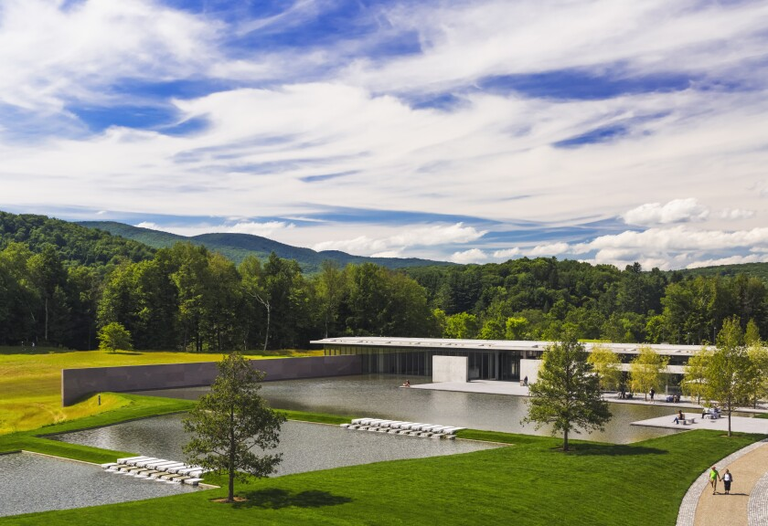 The Clark Art Institute and its reflective pool.