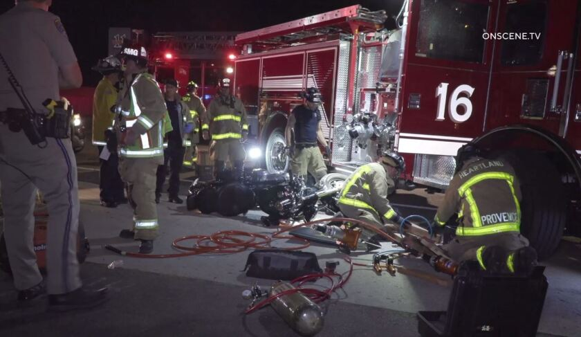 Motorcycle crash with San Miguel fire.JPG