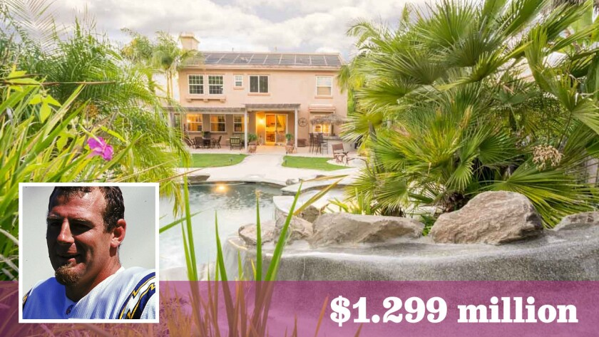 Former San Diego Chargers punter Darren Bennett has put his home in Carlsbad on the market for $1.299 million.