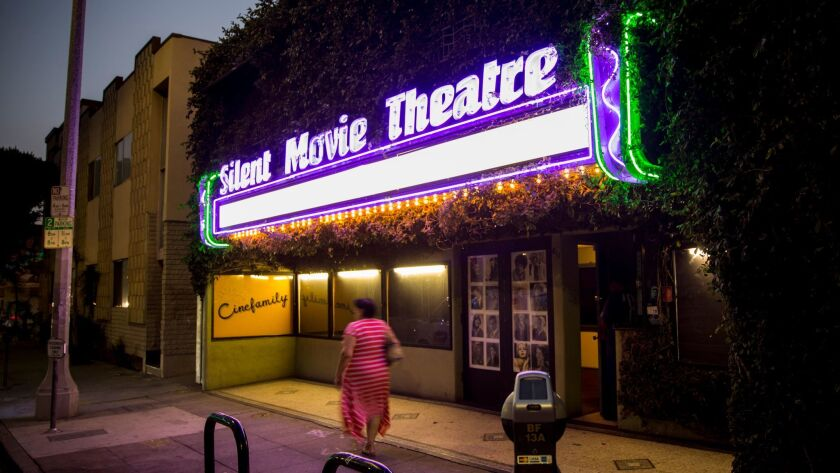 The Silent Movie Theatre, at 611 N. Fairfax Ave. in Los Angeles, was home to Cinefamily.