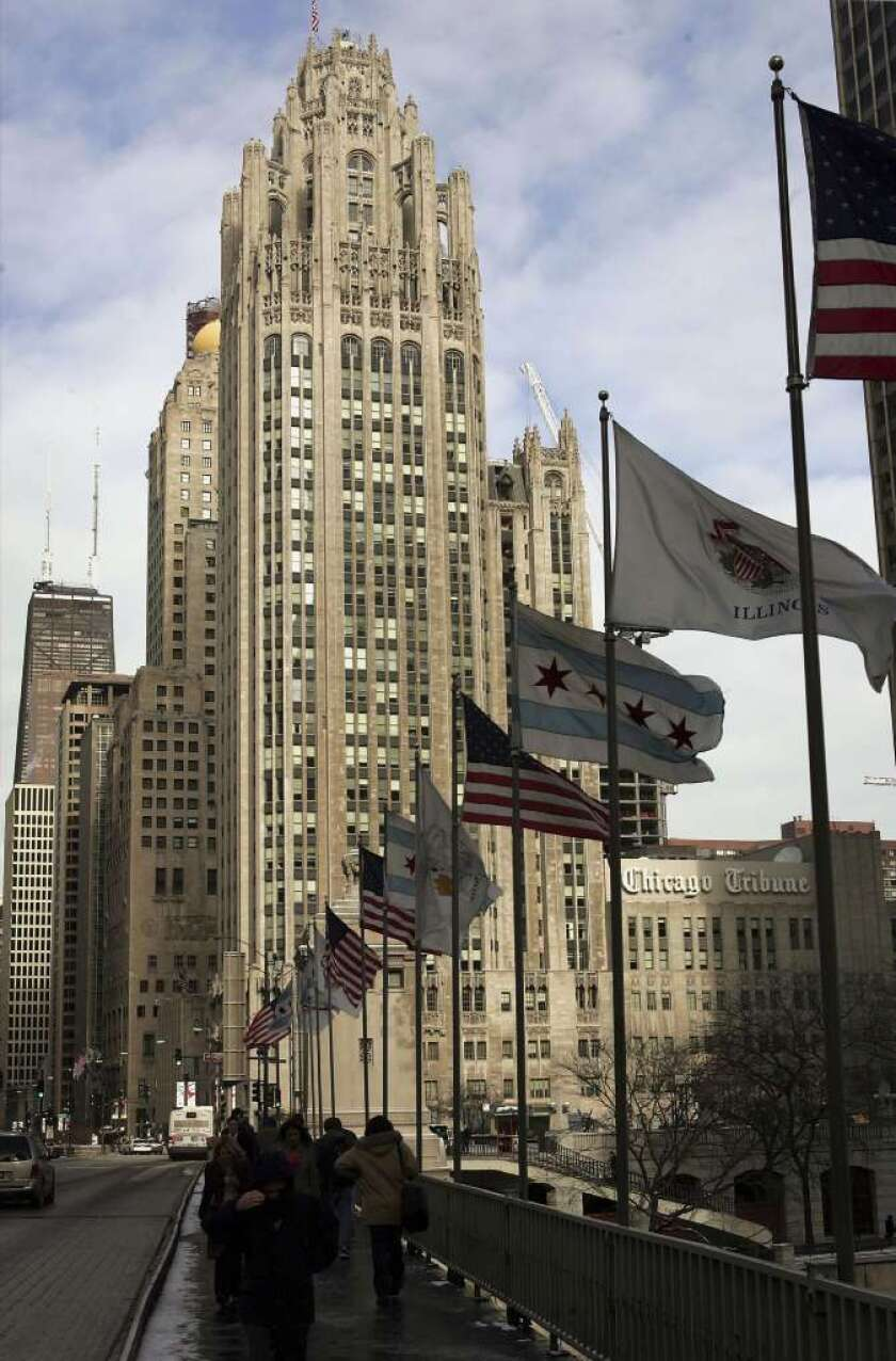 Tribune headquarters on Michigan Avenue in Chicago. Tribune Co. completed its purchase of Local TV Holdings on Friday, making the Chicago company one of the largest broadcasters in the nation.