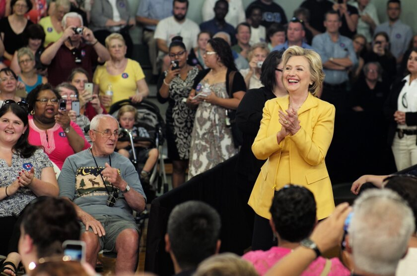Hillary Rodham Clinton, pictured at a town-hall meeting in Nashua, N.H., has begun holding more events that feature questions from voters and the media.