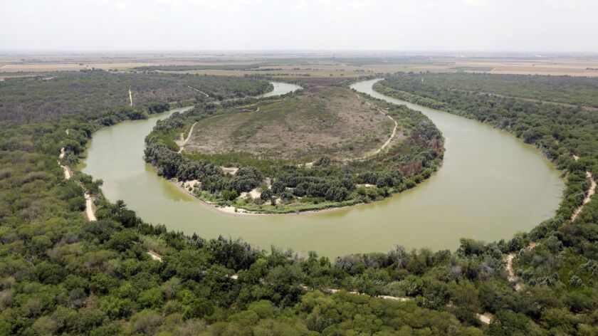 FILE - In this July 24, 2014, file photo, a bend in the Rio Grand is viewed from a Texas Department