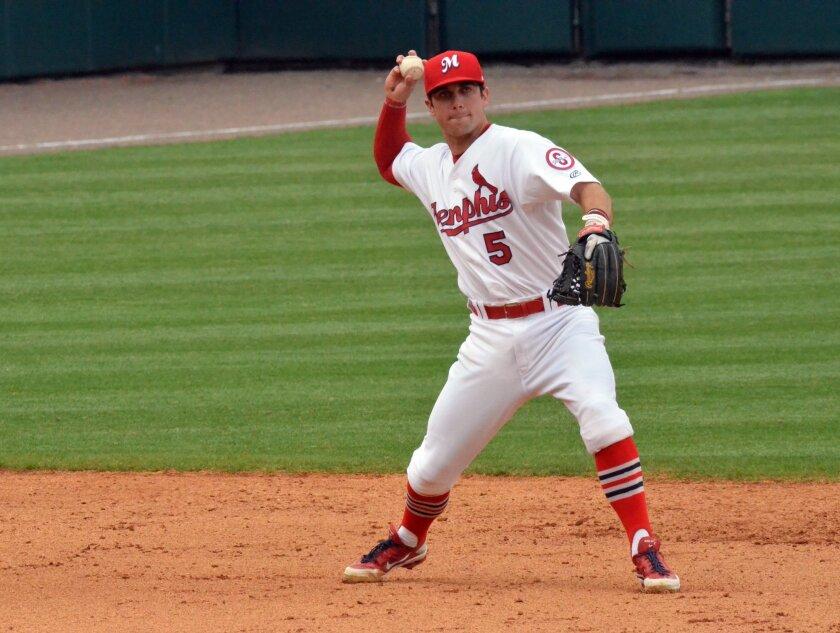 Greg Garcia, Memphis Redbirds (photo credit: Allison Rhoades / Memphis Redbirds)