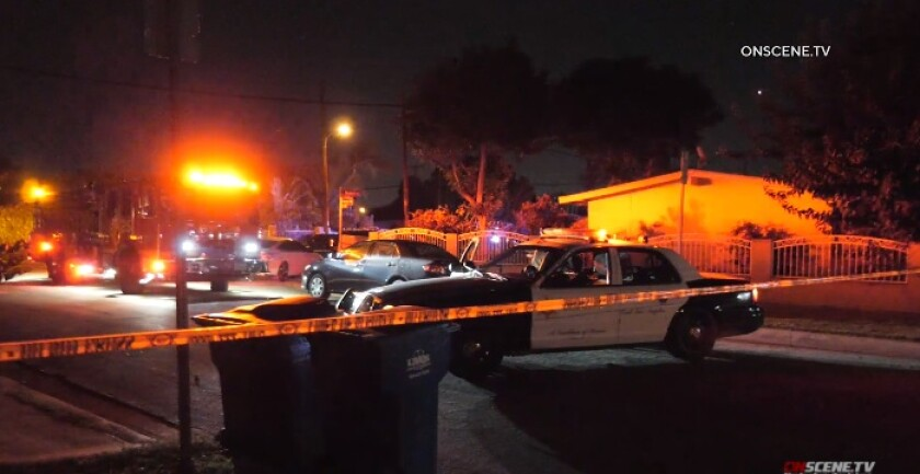 A man was shot and killed by at least one Los Angeles County sheriff's deputy late Sunday in an unincorporated area of Whittier, authorities say.