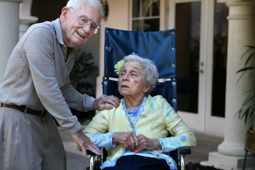 Dr. Charles Steffen moved into an assisted living dementia care center nearly three years ago, even though he had no signs of dementia. He moved into Aegis at Shadowridge in Oceanside to be with his wife Mary, when she needed extended care, because he didn't want to live apart from her.
