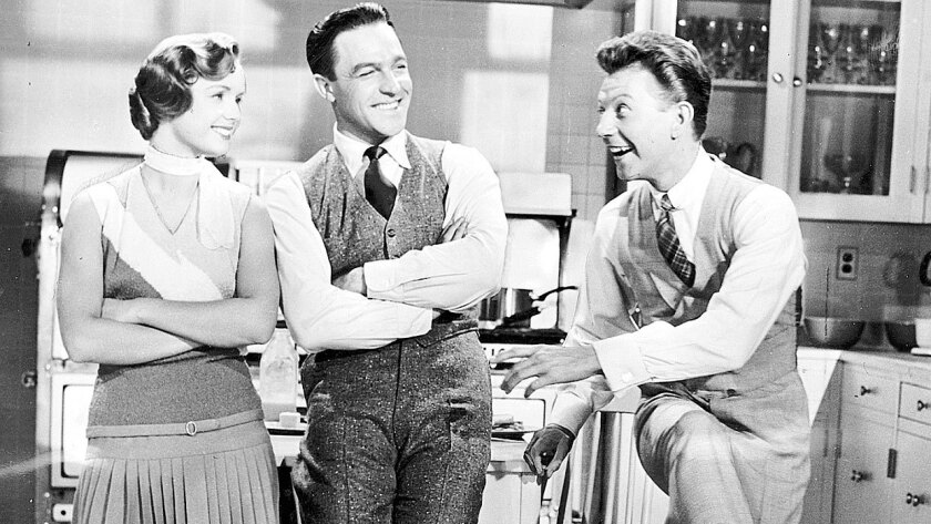 """Debbie Reynolds, Gene Kelly and Donald O'Connor in """"Singin' in the Rain."""""""