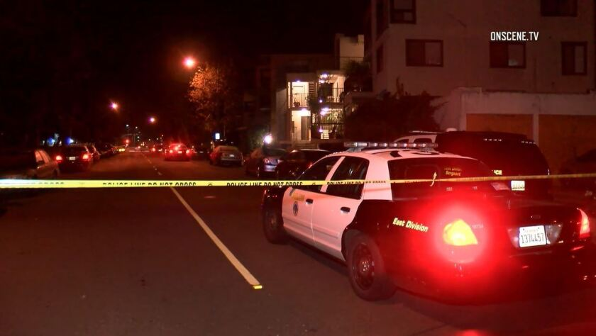 Police were called to the condo about 10 p.m. Monday in the 1000 block of Park Avenue in Long Beach.