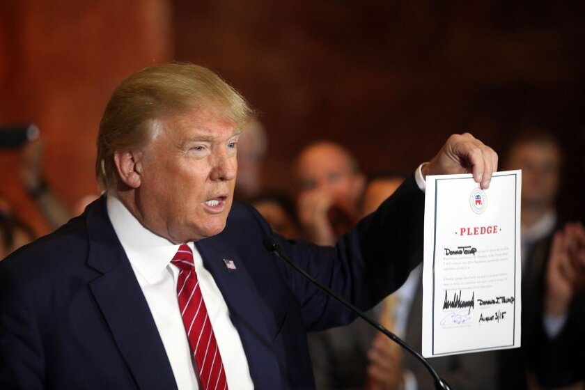 Donald Trump pledges to support Republican nominee
