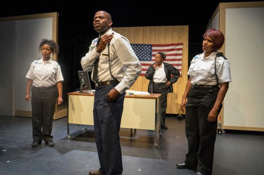 """Andréa Agosto, Vimel Sephus, Sylvia M'Lafi Thompson and Monique Gaffney (left to right) in """"Cell."""""""