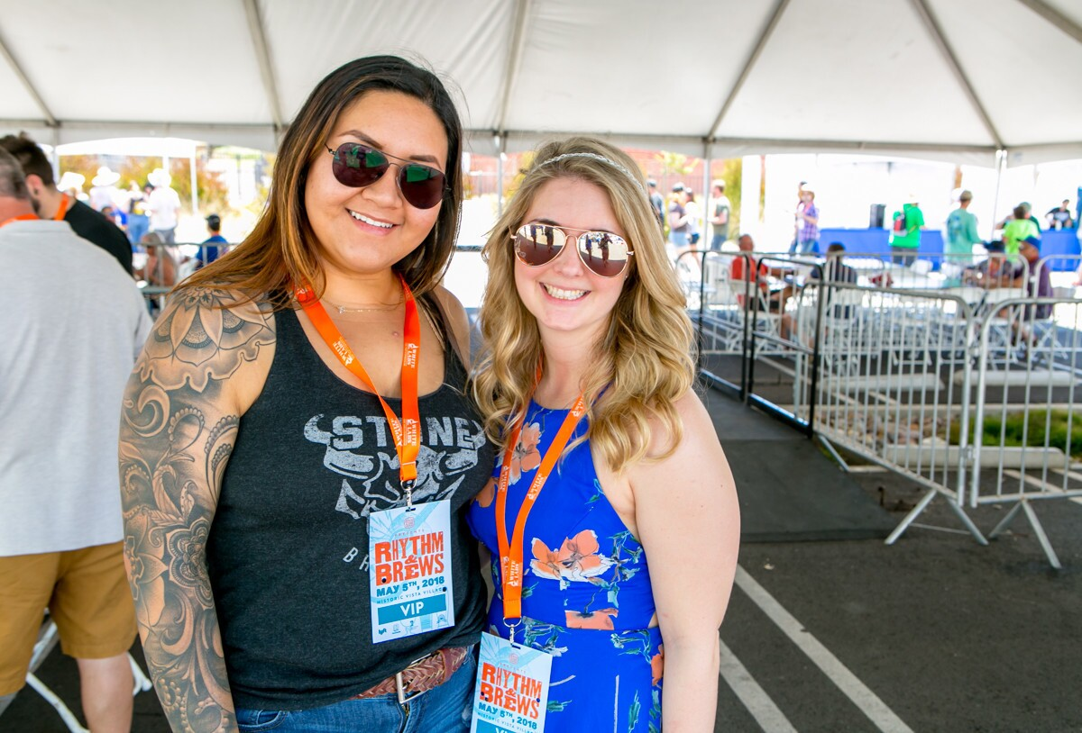 Beer, beats and sunshine reigned at the 7th Annual Rhythm & Brews Music and Craft Beer Festival in historic downtown Vista Village on Saturday, May 5, 2018.